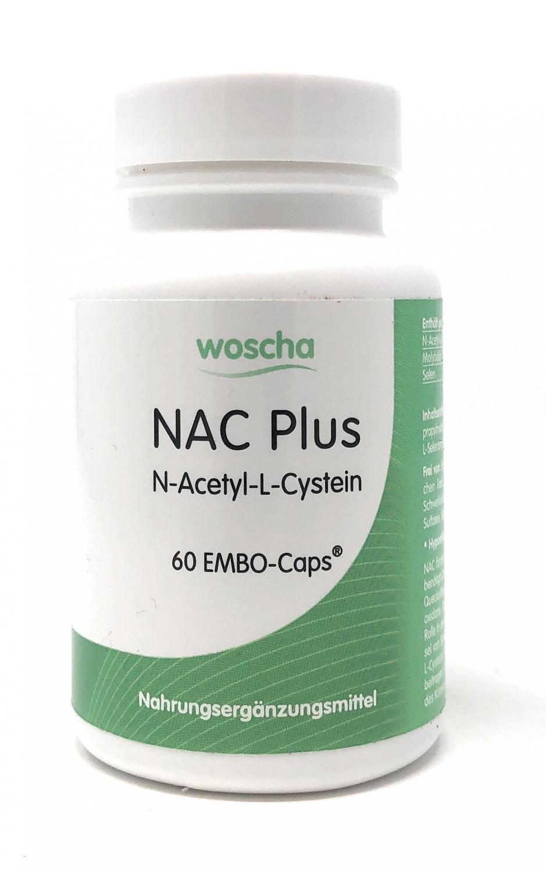 woscha NAC Plus (N-Acetyl-L-Cystein) 60 Embo-CAPS® (46g)(vegan)