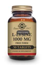 Solgar L-Lysine (Free Form) 1000mg 50 Tabletten (vegan)