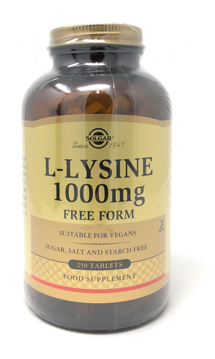 Solgar L-Lysine (Free Form) 1000mg 250 Tabletten (vegan)
