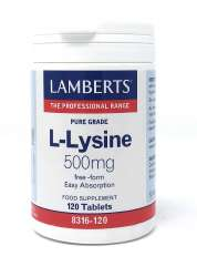 Lamberts Healthcare Ltd. L-LYSINE 500mg 120 Tabletten