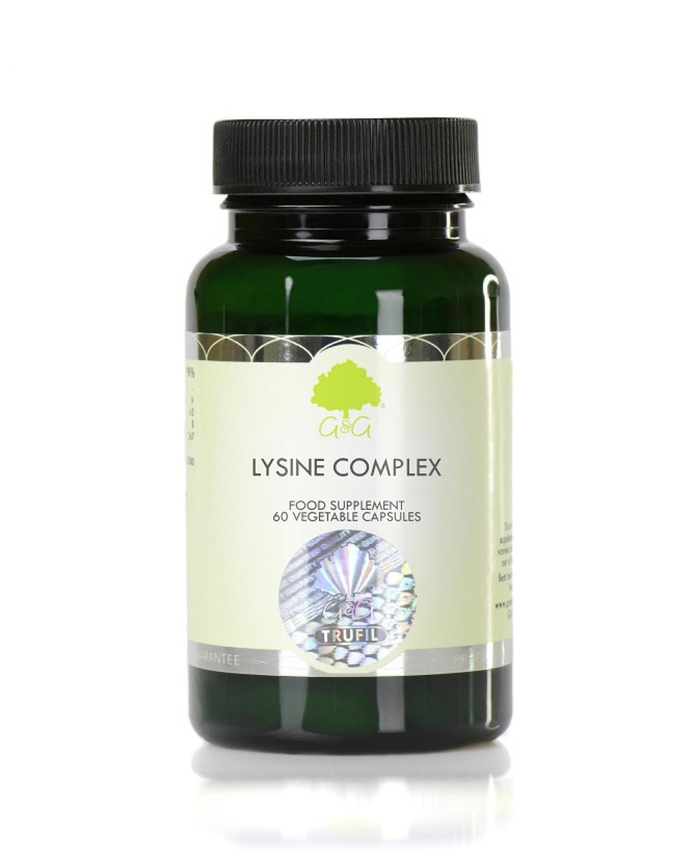 G&G Vitamins Lysine Complex (Lysin, Vitamin C, Zink) 60 veg. Kapseln (43,8g)(vegan)