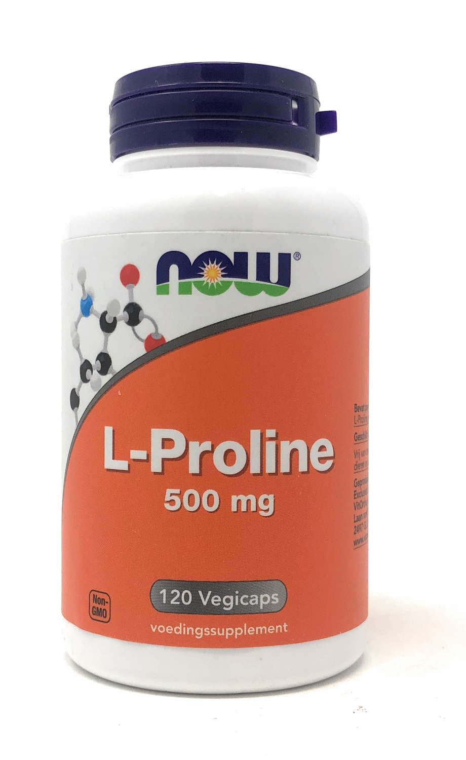 NOW Foods L-Proline 500mg 120 veg. Kapseln