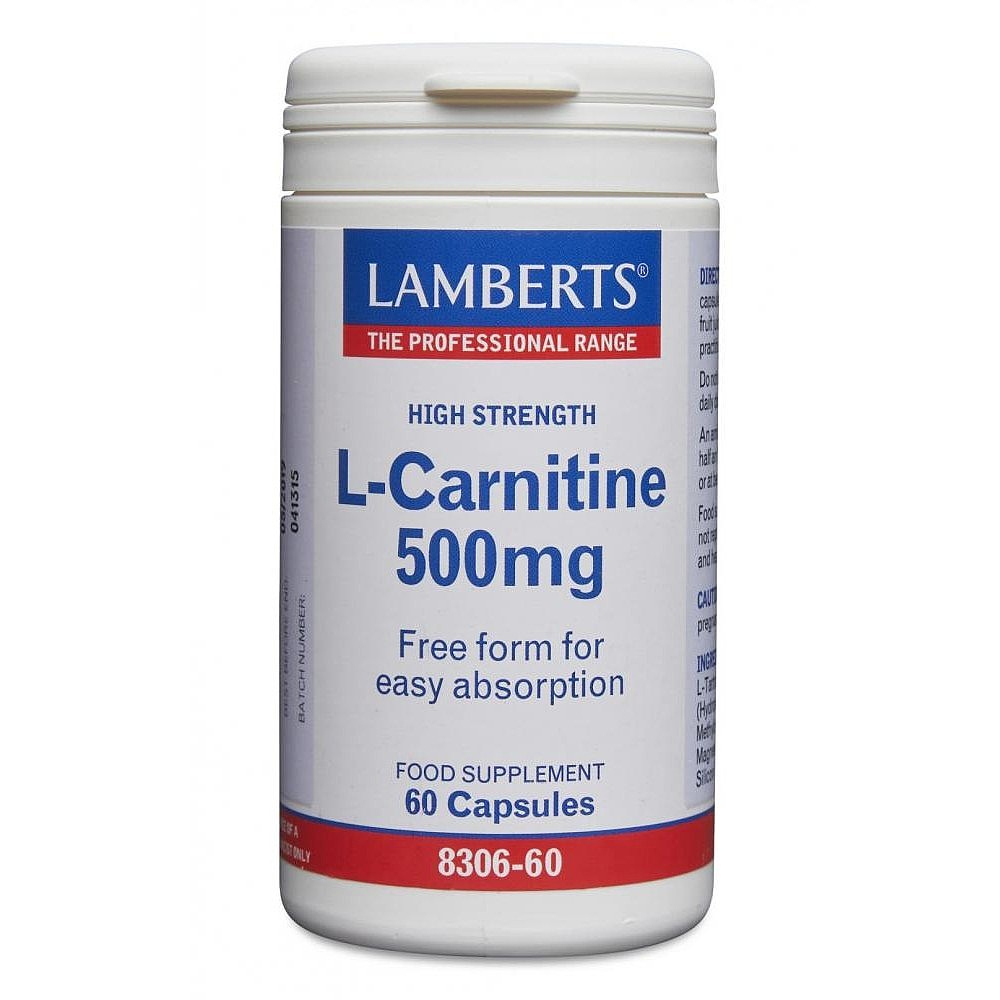 Lamberts Healthcare Ltd. L-Carnitine 500mg 60 veg. Kapseln