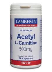 Lamberts Acetyl-L-Carnitine 500mg 60 veg. Kapseln