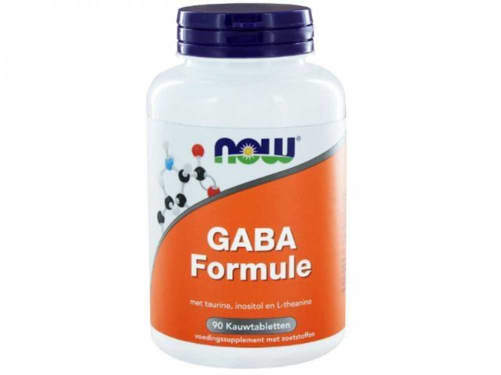 NOW Foods GABA Formule 90 Kautabletten