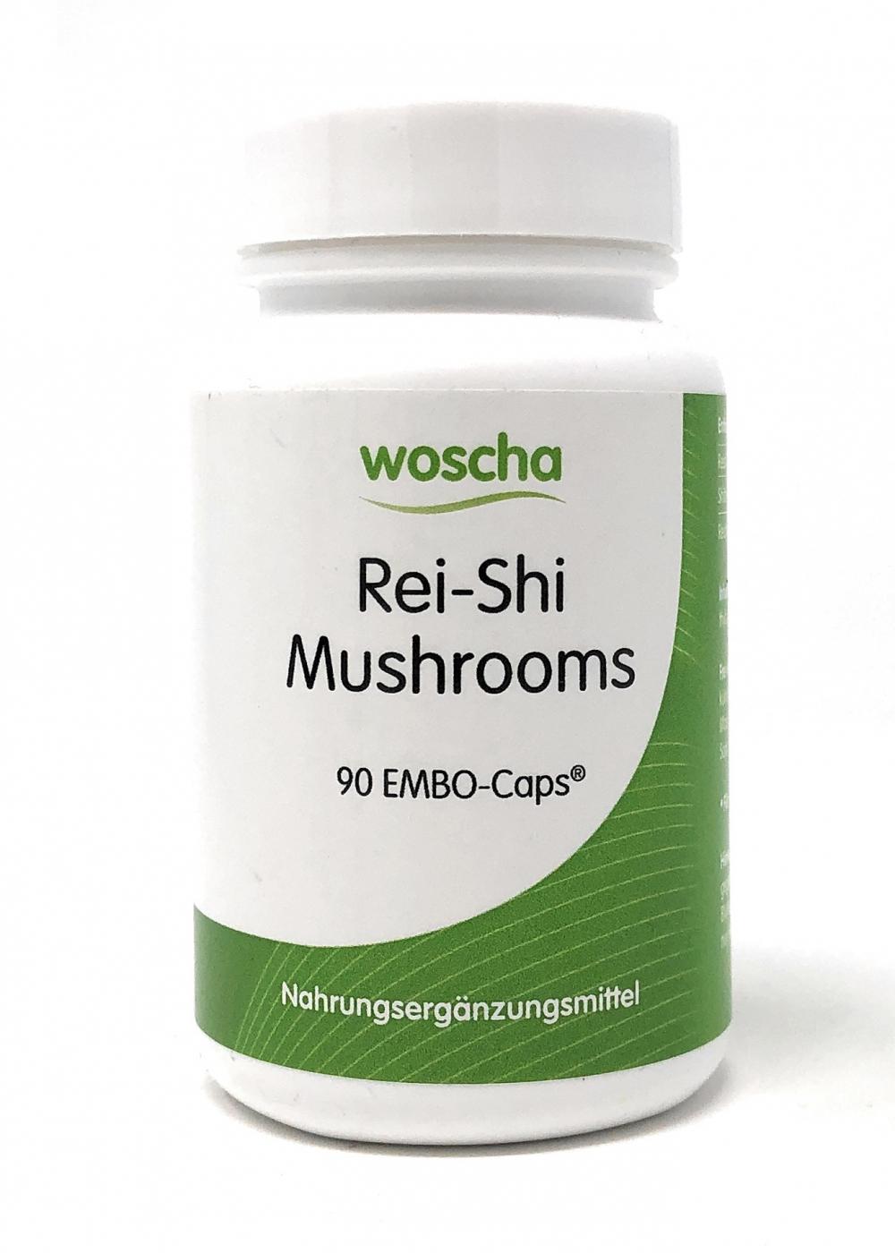 woscha Rei-Shi Mushrooms 90 Embo-Caps (31g) (vegan)