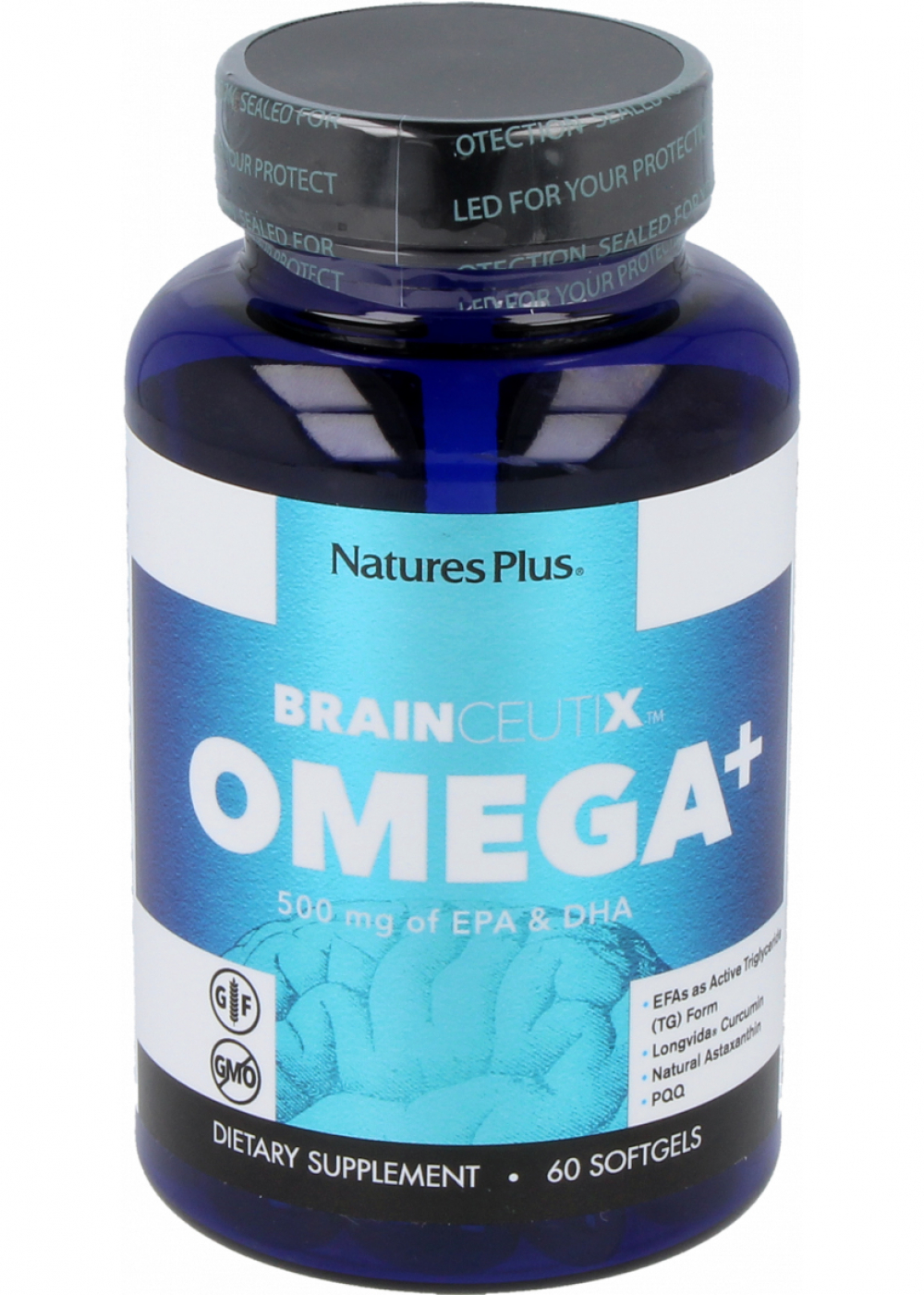 Natures Plus Brainceutix Omega+ (mit PQQ) 60 Softgels