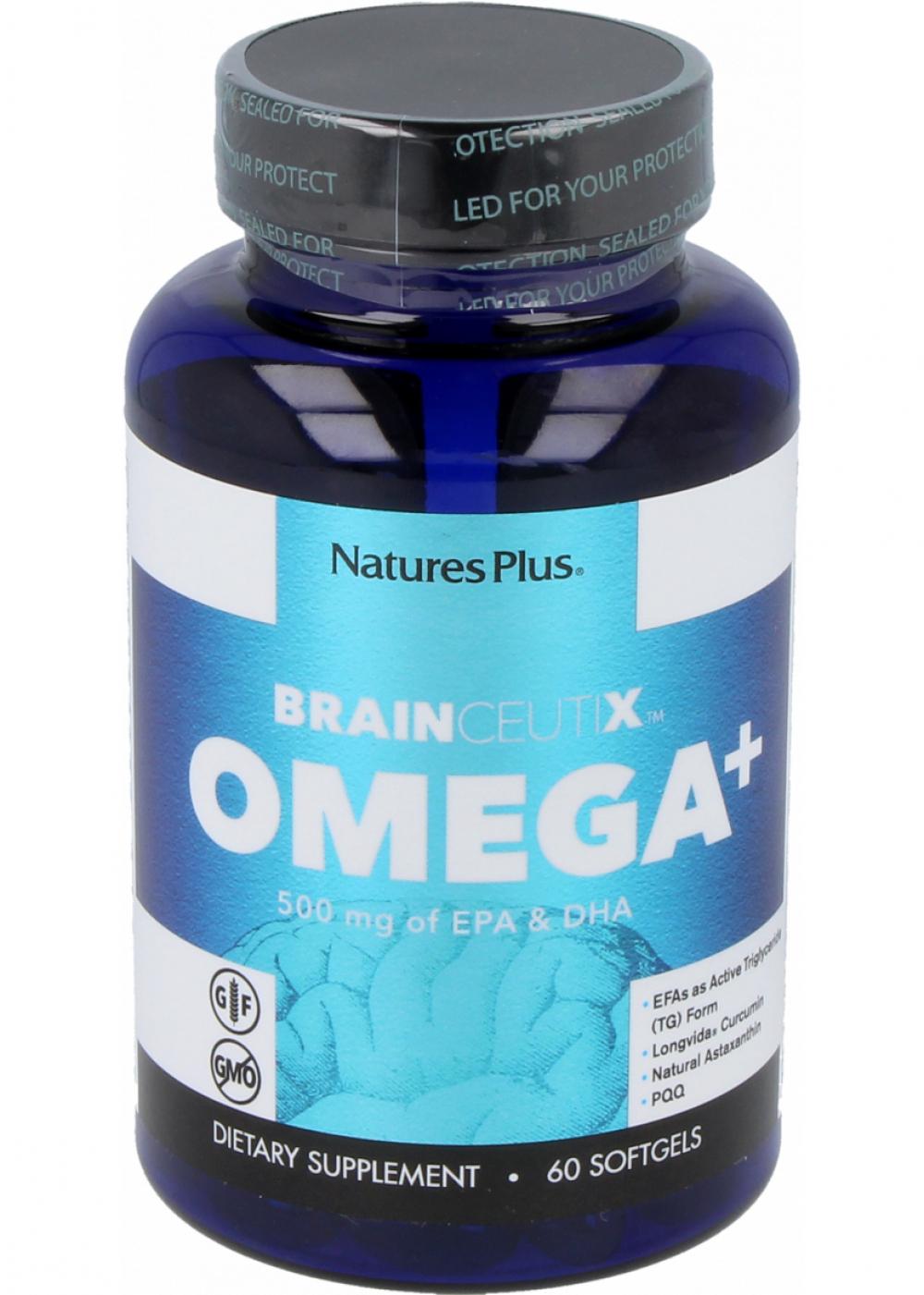 Natures Plus Brainceutix Omega+ (mit PQQ) 60 Softgels