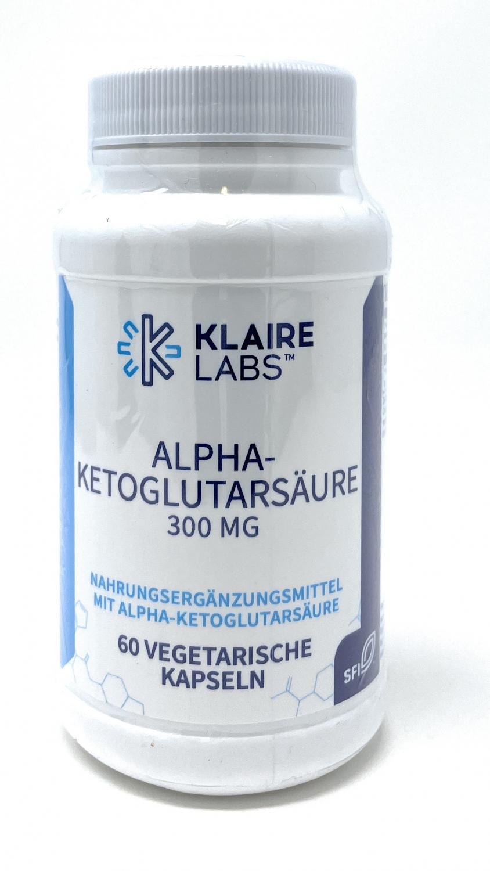 Klaire Laboratories Alpha-Ketoglutarsäure (300 mg) 60 veg. Kapseln (35g)
