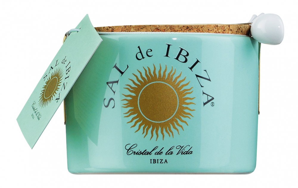 Sal de Ibiza Fleur de Sel im Steintopf 150g