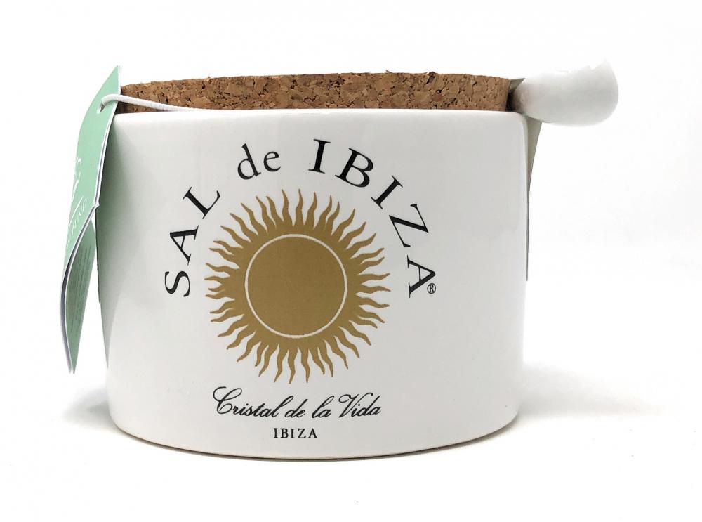 Sal de Ibiza Fleur de Sel Isla Blanca (Flor de Sal) Keramiktopf 140g