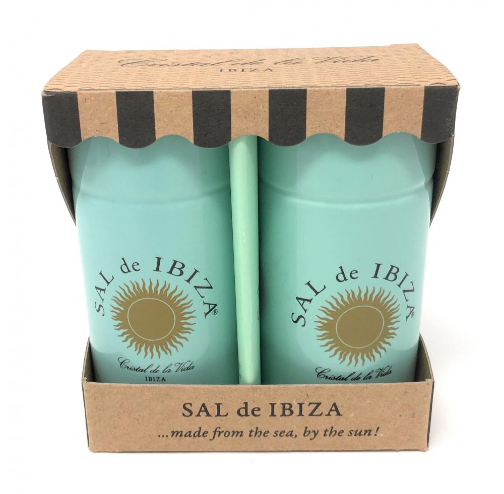 Sal de Ibiza Meersalz- und Pfefferstreuer aus Keramik Granito Pur und Pimienta Pur 90g/40g Set