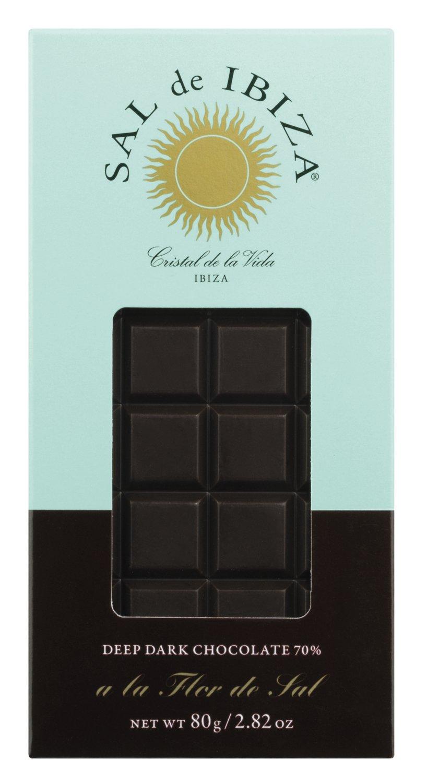 Sal de Ibiza Zartbitterschokolade mit Flor de Sal 80g Tafel