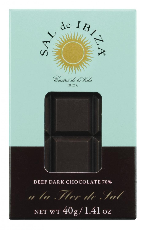 Sal de Ibiza Zartbitterschokolade mit Flor de Sal 40g Tafel