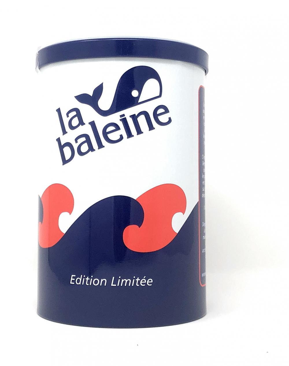 La Baleine Grobes Meersalz aus Frankreich in der Wal-Motivdose Limitiere Edition - reines Sel de Mer aus der Camargue 1000g