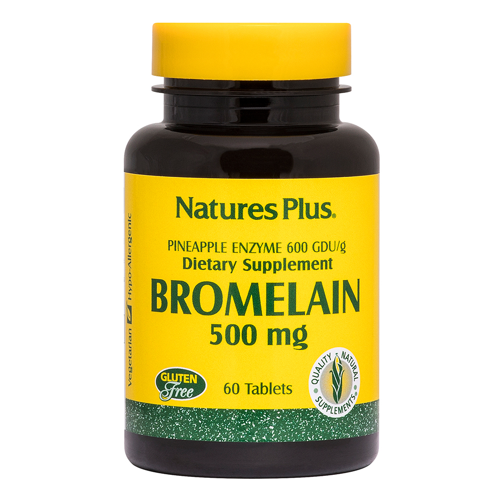 Natures Plus Bromelain 500mg (300 GDU/gram) 60 Tabletten