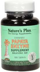 Natures Plus Papaya Enzyme Chewable 180 Kautabletten (79g)
