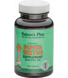 Natures Plus Papaya Enzyme Chewable 360 Kautabletten (159,3g)