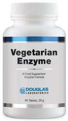 Douglas Laboratories Europe Vegetarian Enzyme (vegetarische Enzyme) 60 Tabletten (29g) (vegan)