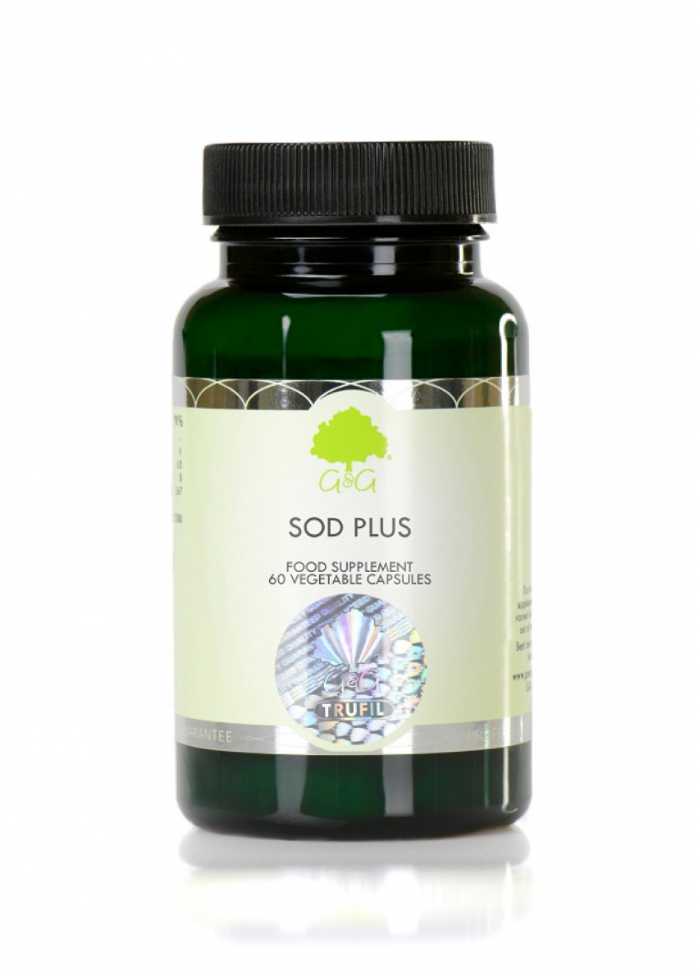 G&G Vitamins SOD Plus (Superoxiddismutase) 60 veg. Kapseln (34g) (vegan)