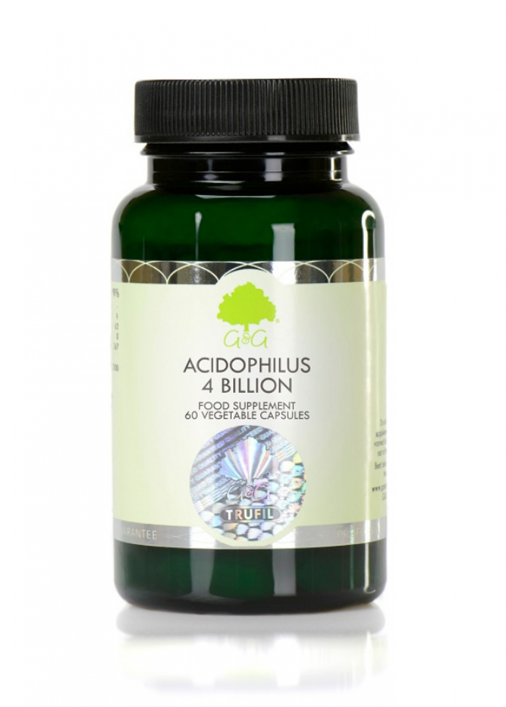 G&G Vitamins Acidophilus 4 Billion (4 Milliarden) 60 veg. Kapseln (30g)(vegan)