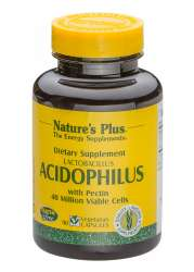 Natures Plus Lactobacillus Acidophilus with Pectin  (40 Million) 90 veg. Kapseln
