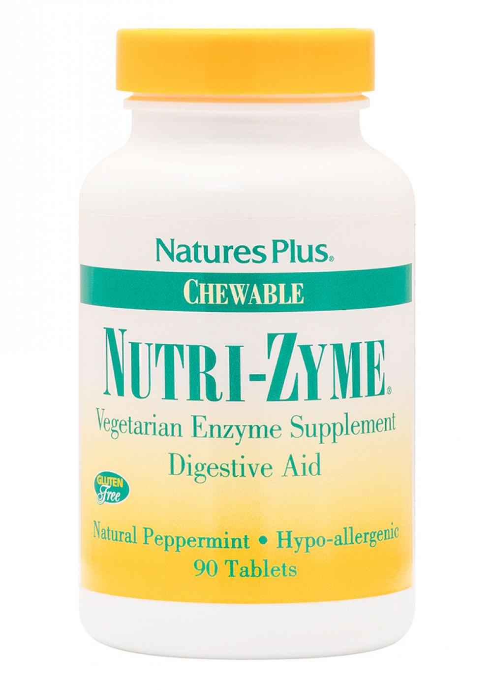 Natures Plus Nutri-Zyme Chewable Digestive Aid  90 veg. Kautabletten