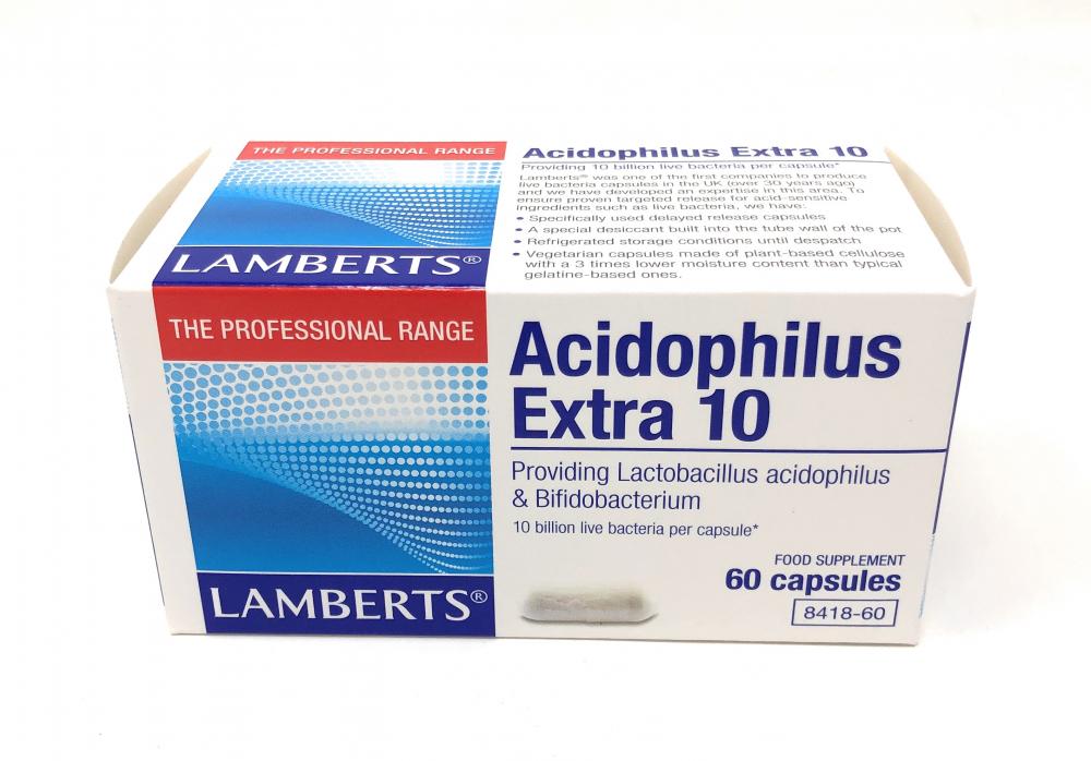Lamberts Healthcare Ltd. Acidophilus Extra 10 60 veg. Kapseln