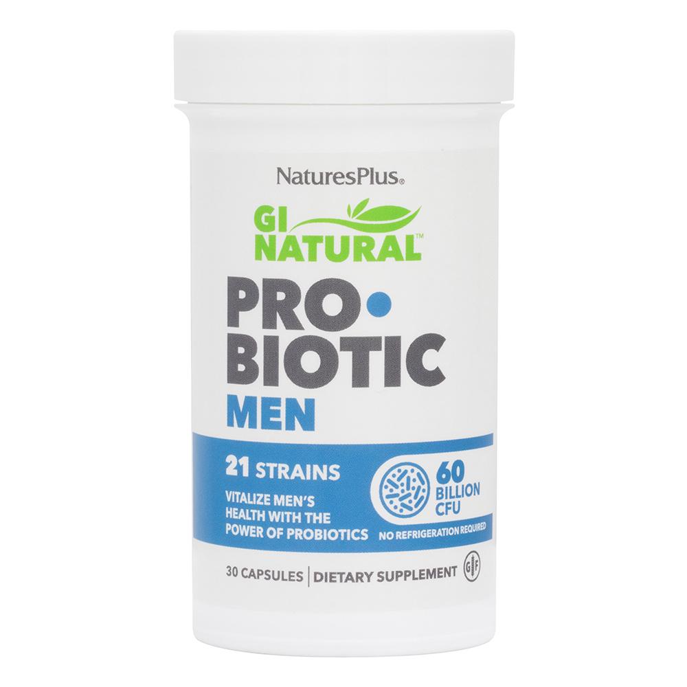 Natures Plus GI Natural Pro•Biotic Men (speziell für Männer) 30 veg. Kapseln