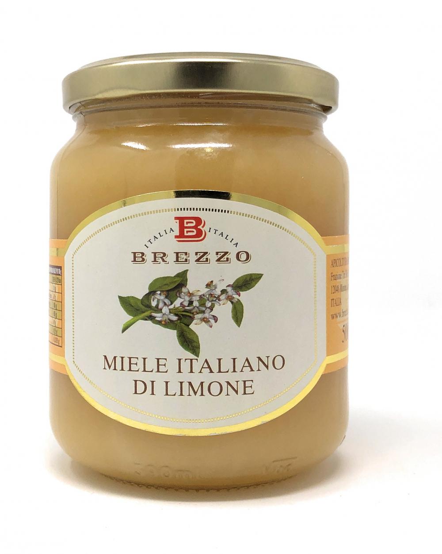 Apicoltura Brezzo Miele Italiano dei Limone Zitronenblütenhonig 500 g Glas