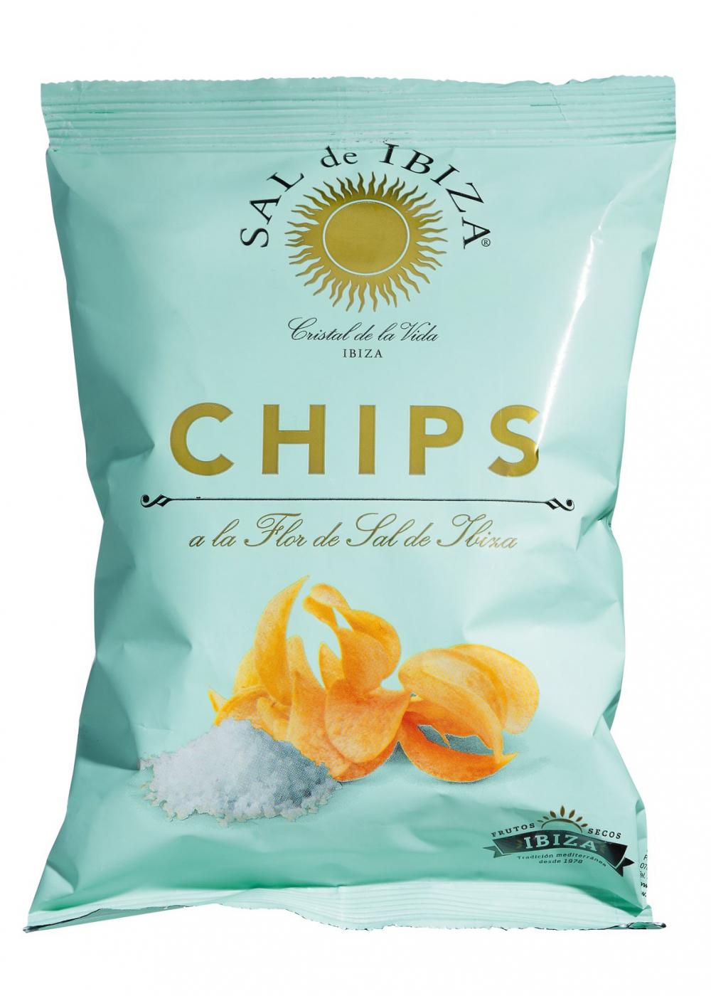 Sal de ibiza Chips a la Flor de Sal de Ibiza 45g Beutel