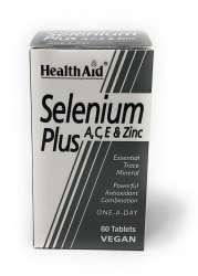 HealthAid Selenium Plus (Selen mit Vitamin A,C,E & Zink)  60 Tabletten (vegan)