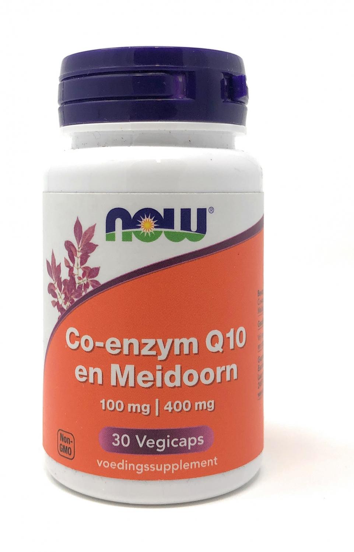 NOW Foods Co-Q10 100 mg met Meidoorn [Weißdorn] 30 veg. Kapseln