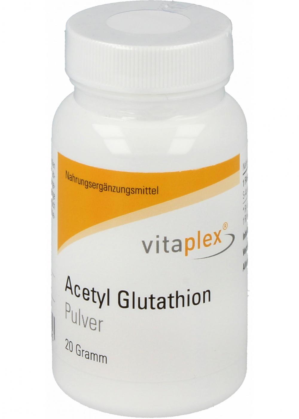 Vitaplex Acetyl Glutathion 20 Gramm Pulver