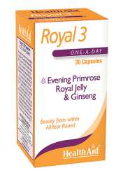 Health Aid Royal +3 (Royal Jelly + E.P.O. + Korean Ginseng) 30 Sotgels