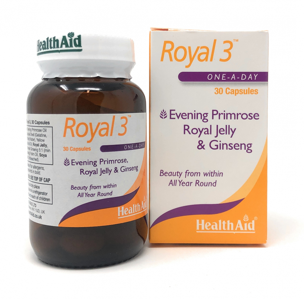 HealthAid Royal +3 (Royal Jelly + E.P.O. + Korean Ginseng) 30 Sotgels