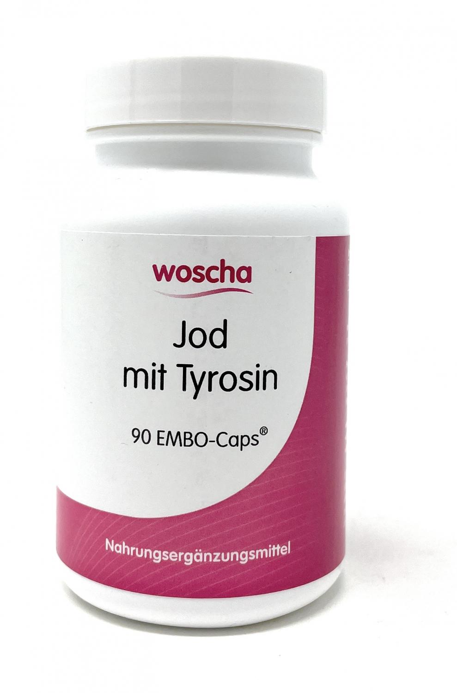 woscha Jod mit Tyrosin 90 Embo-CAPS® (54g) (vegan)