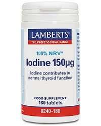 Lamberts Iodine 150mcg (Kelp Extract) 180 Tabletten