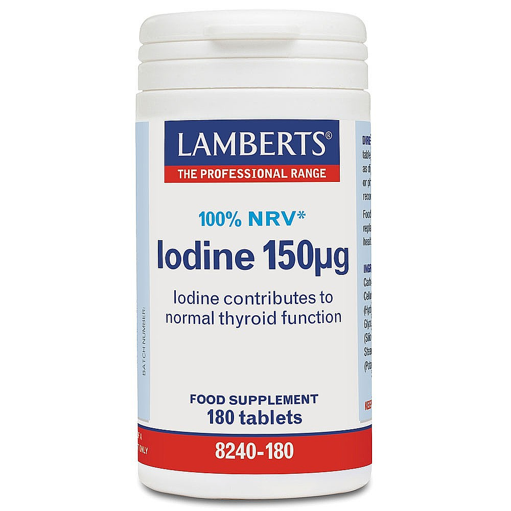 Lamberts Healthcare Ltd. Iodine 150mcg (Kelp Extract) 180 Tabletten (vegan)