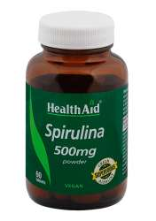 HealthAid Spirulina 500mg 60 Tabletten (vegan)