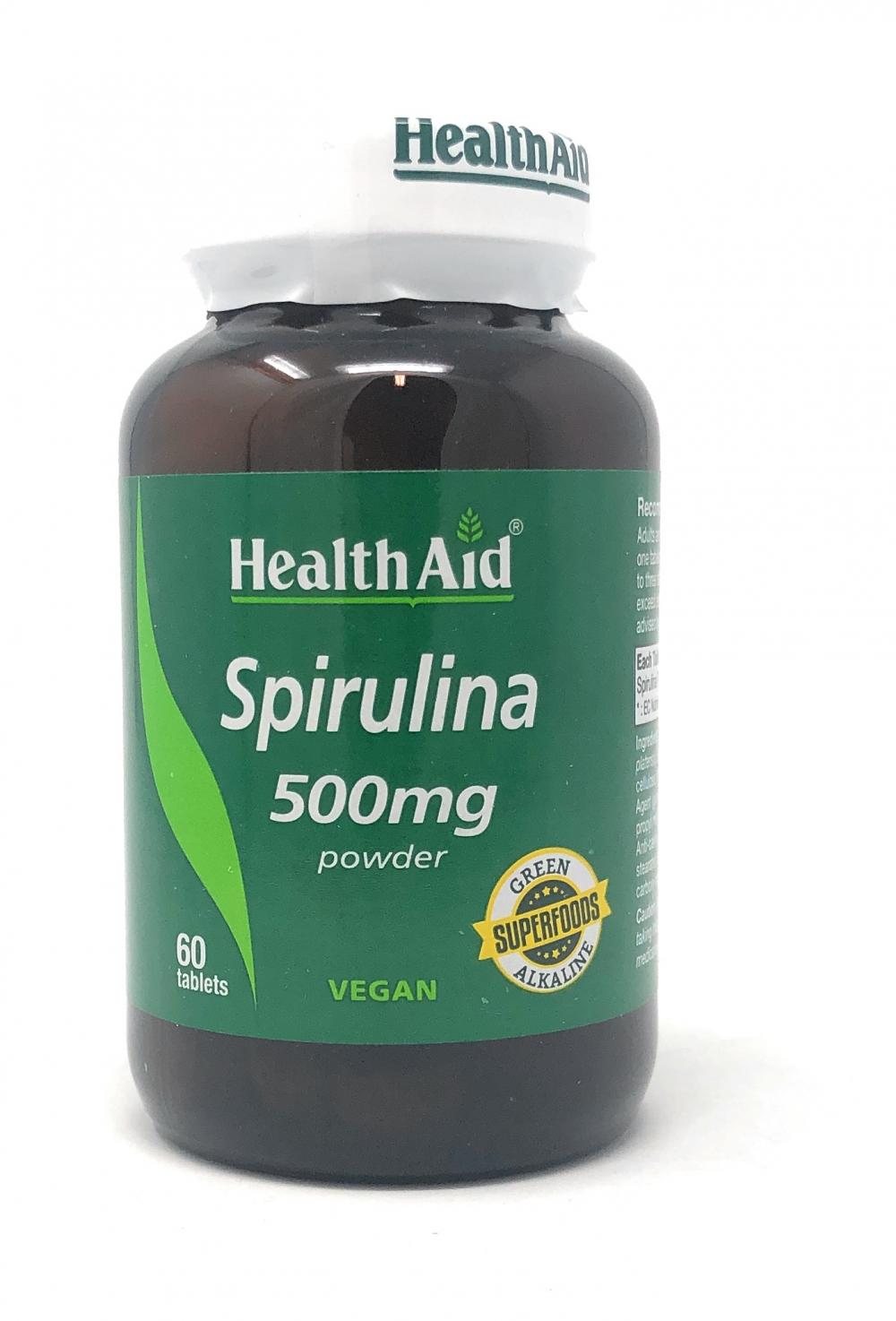 HealthAid Spirulina 500mg 60 Tabletten (vegan)