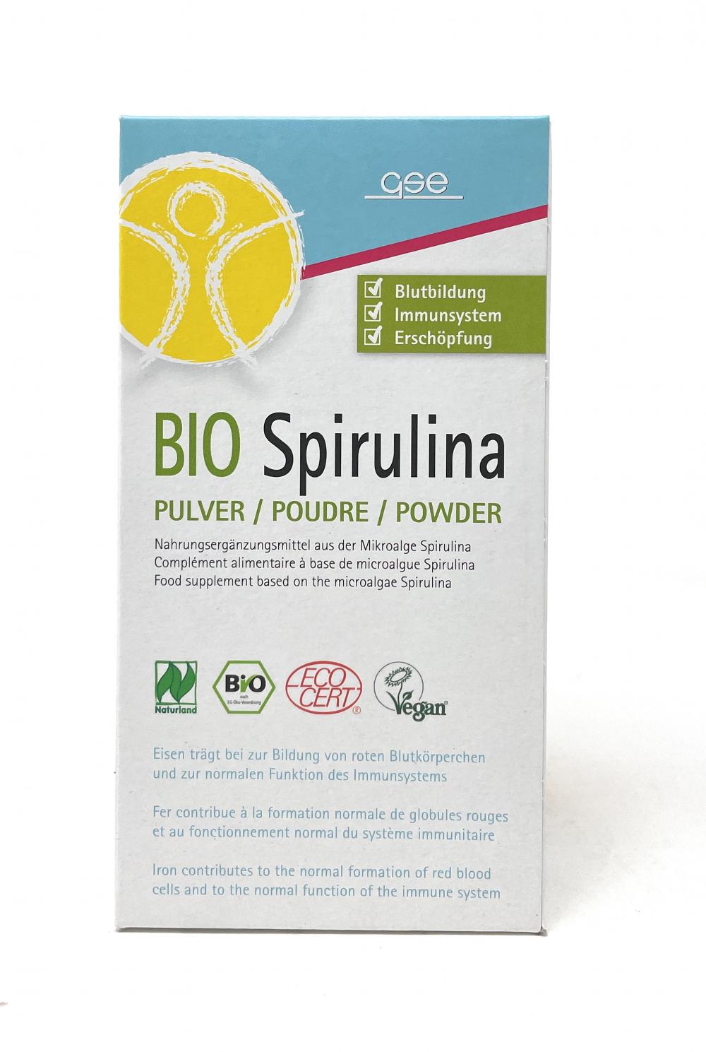 GSE Vertrieb Bio Spirulina Pulver 200g (vegan)