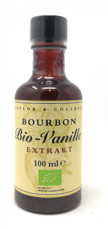 Taylor & Colledge Bio Vanille-Extrakt 100ml Flasche  (DE-ÖKO-006)