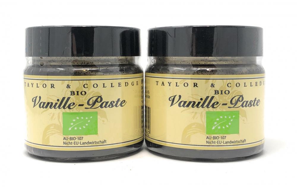 [2er PACK] | Taylor & Colledge Bio Vanille-Paste 2x 65g Dose (DE-ÖKO-006)