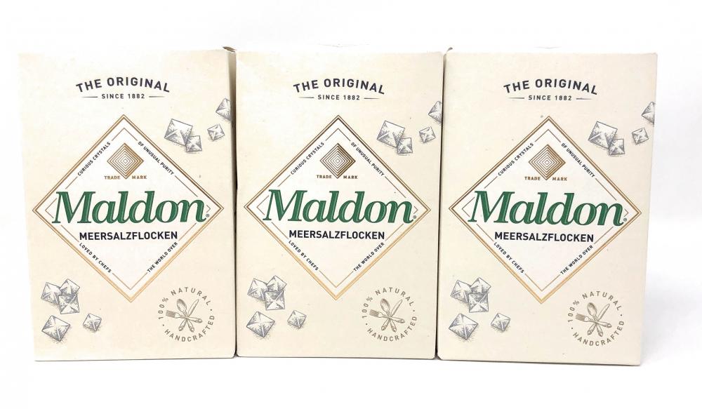 Maldon Sea Salt Flakes Meersalzflocken 3x250g = 750g