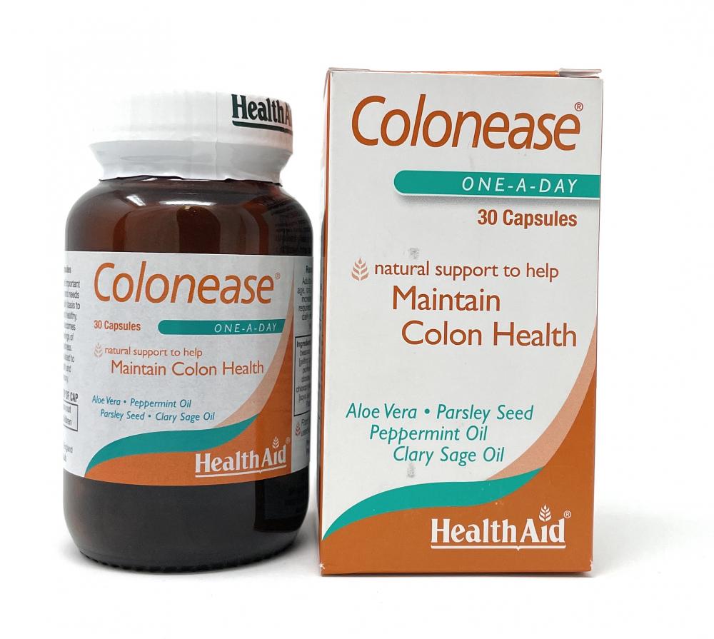 HealthAid Colonease® (Peppermint & Aloe Vera Plus)  30 Kapseln