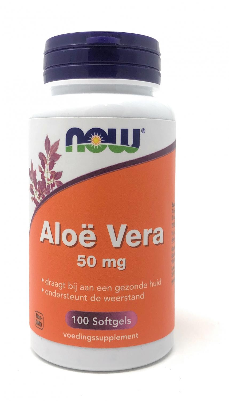 NOW Foods Aloë Vera 50 mg 100 Softgels