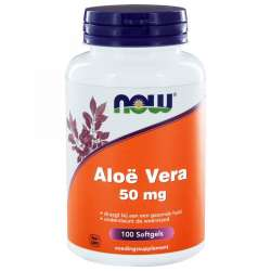 NOW Foods Aloë Vera 50 mg 100 Softgels