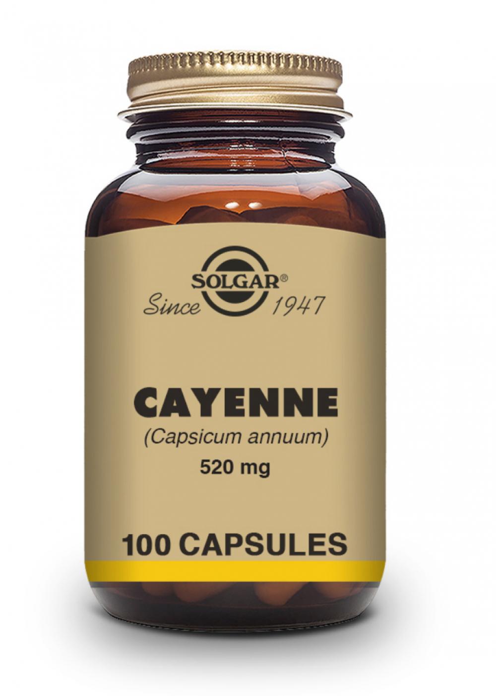 Solgar Cayenne 520mg 100 veg. Kaspsel (vegan)