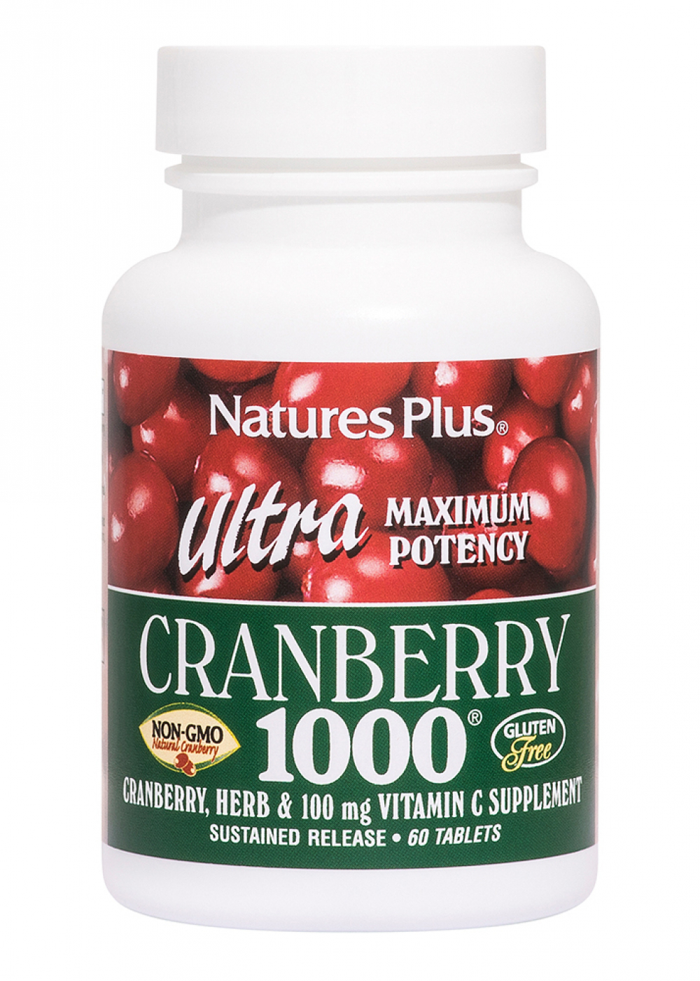 Natures Plus Ultra Cranberry 1000® Sustained Release 60 Tabletten (92,9g)